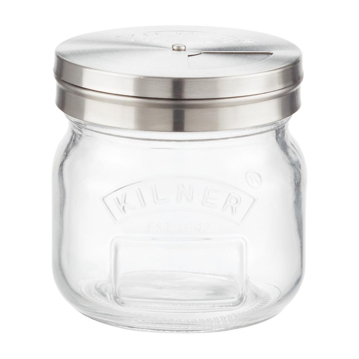 Quattro Stagioni 8 5 Oz Glass Storage Jar With Shaker Lid Jar Storage Glass Storage Jars Glass Storage