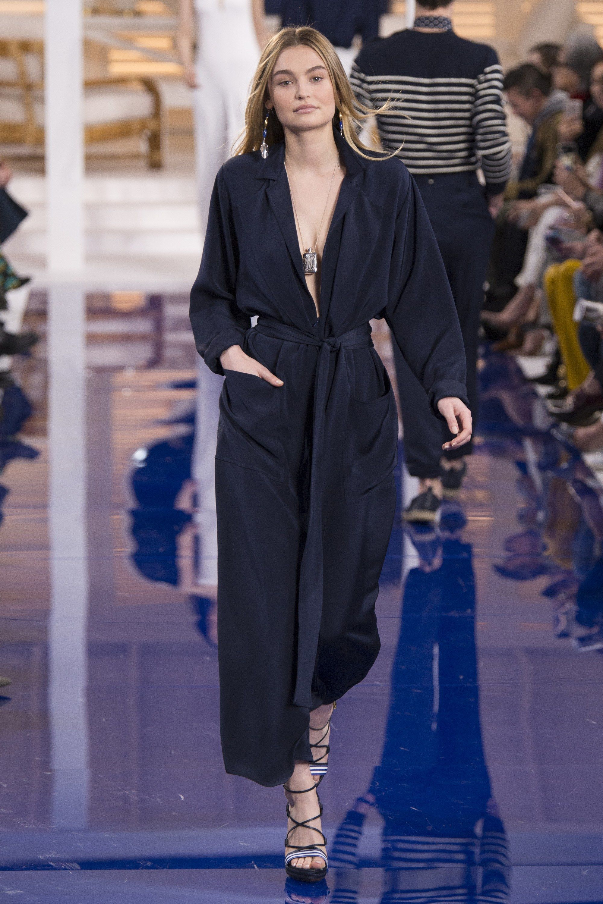 b31110a9bb28 The complete Ralph Lauren Spring 2018 Ready-to-Wear fashion show now on  Vogue Runway.