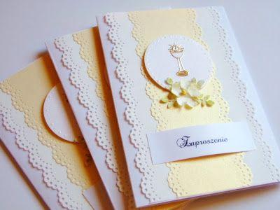 Pin Od Aga Si Na Komunia Chrzest Communion Invitations First Communion Invitations I First Communion Cards
