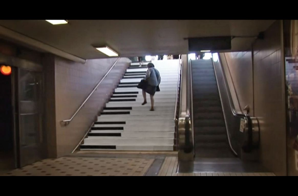A Design Team In Odenplan Stockholm Creates A Set Of Piano Stairs To See If People Would Take The Stairs Rather Than The Piano Stairs Take The Stairs Stairs