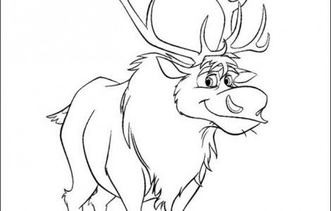 sven the deer frozen coloring book - Sven Reindeer Coloring Pages