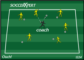 Soccer Drills By Soccerxpert Soccer Drills Fun Soccer Drills Soccer