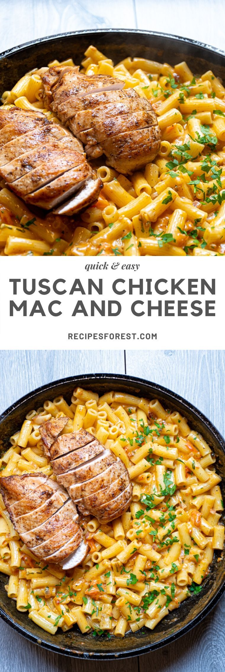 The BEST Tuscan Chicken Mac and Cheese (30Min) | Recipes Forest