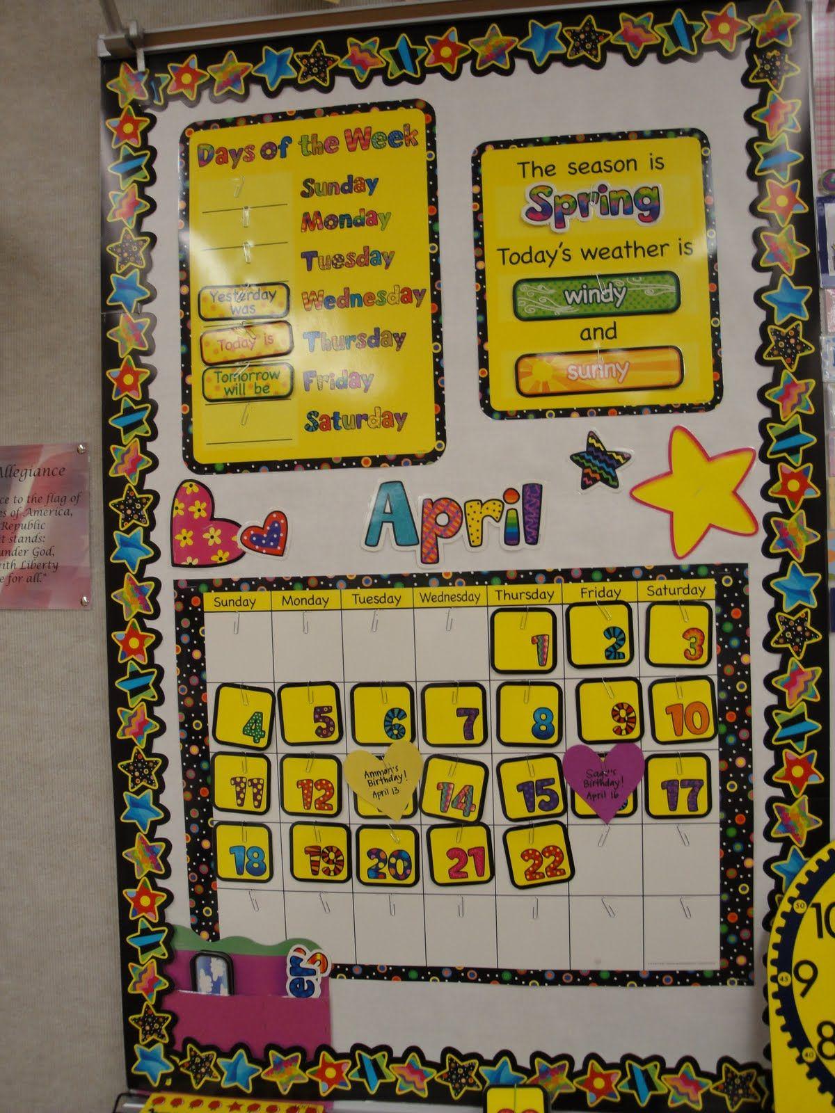 Classroom Calendar Bulletin Board Ideas : Calendar math bulletin board they used ctp s poppin