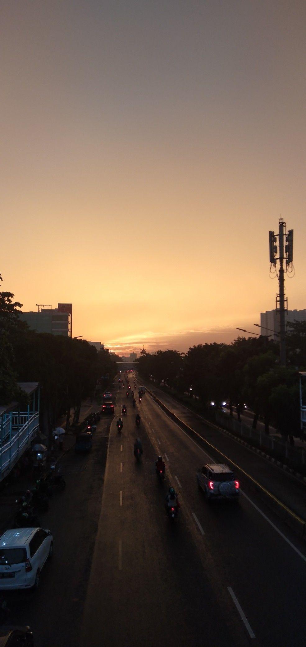 Sunset Senja Pemandangan Fotografi Perjalanan Fotografi Alam