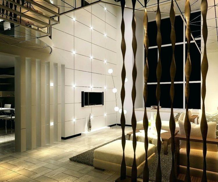 Formschon Holzstabe Raumteiler Design Ideen Minimalistisch