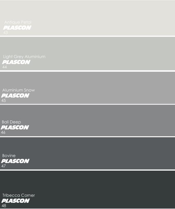 Plascon's Favourite Greys: