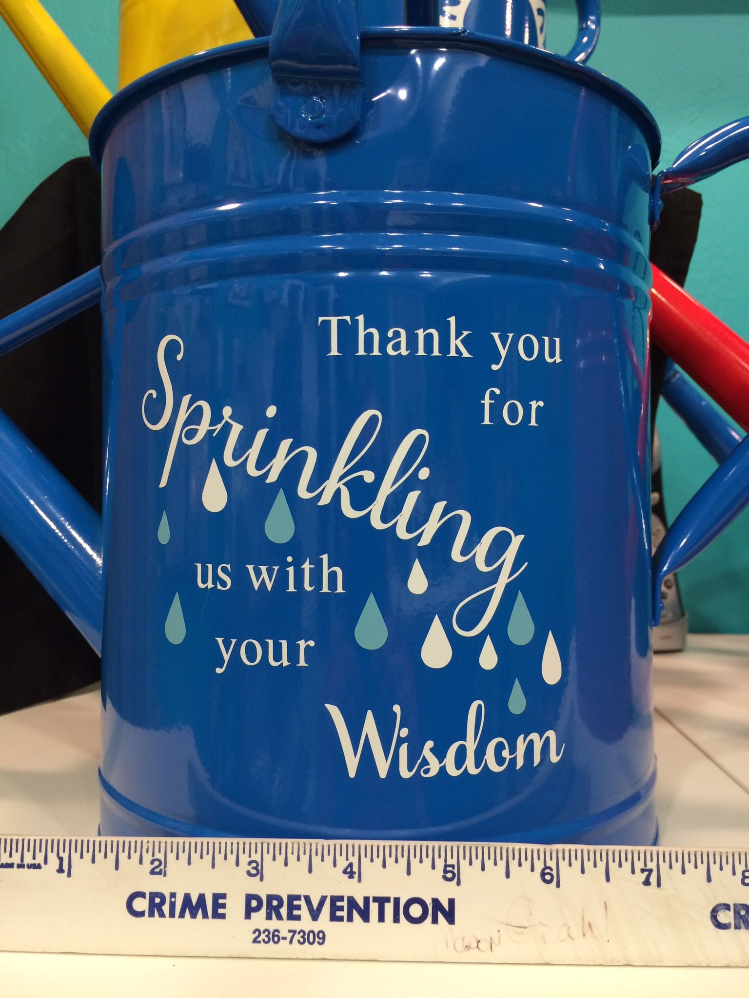 Adorable Watering Can With Saying For A Teacher Or Coach