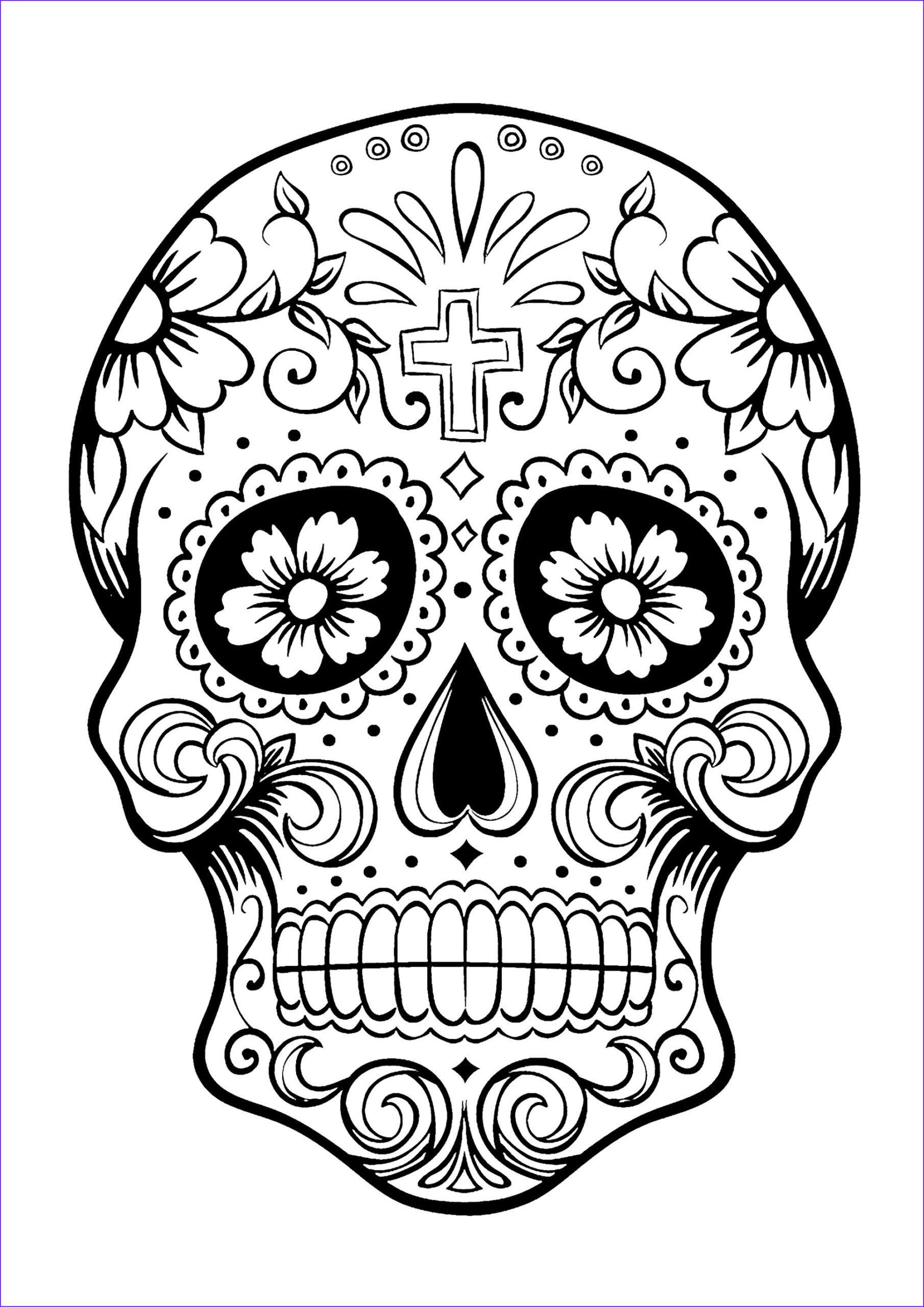 19 Elegant Dia De Los Muertos Coloring Pages Photos  Skull