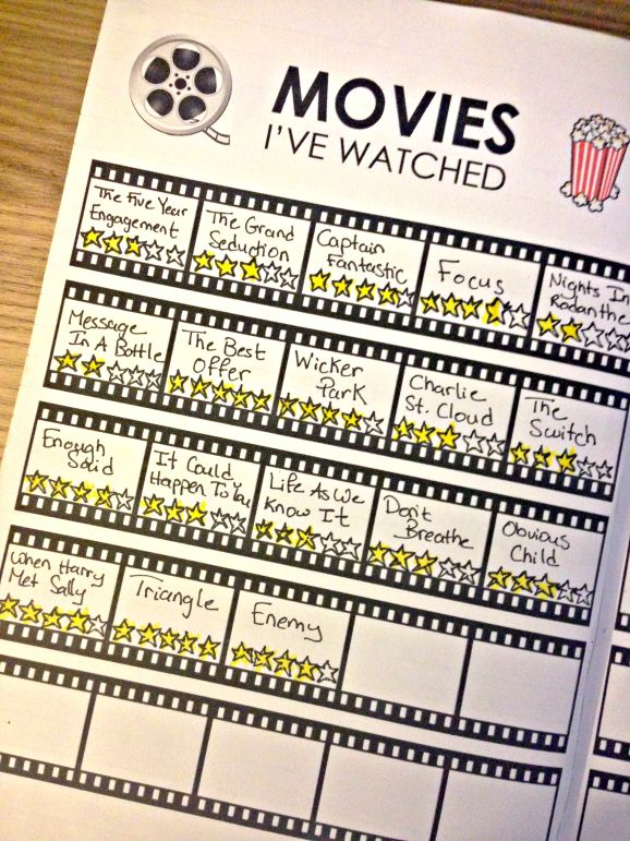 Tracking Films Youve Watched In Your Bullet Journal Printable