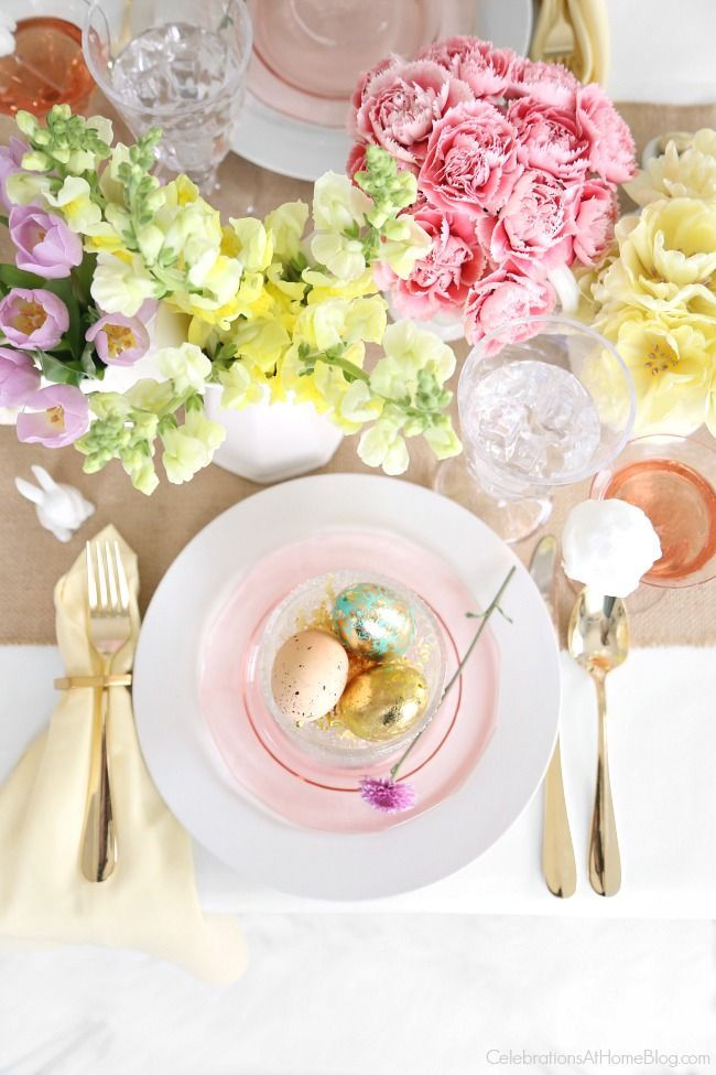 Set a Beautiful Easter Tablescape   Easter, Celebrations and Easter ...