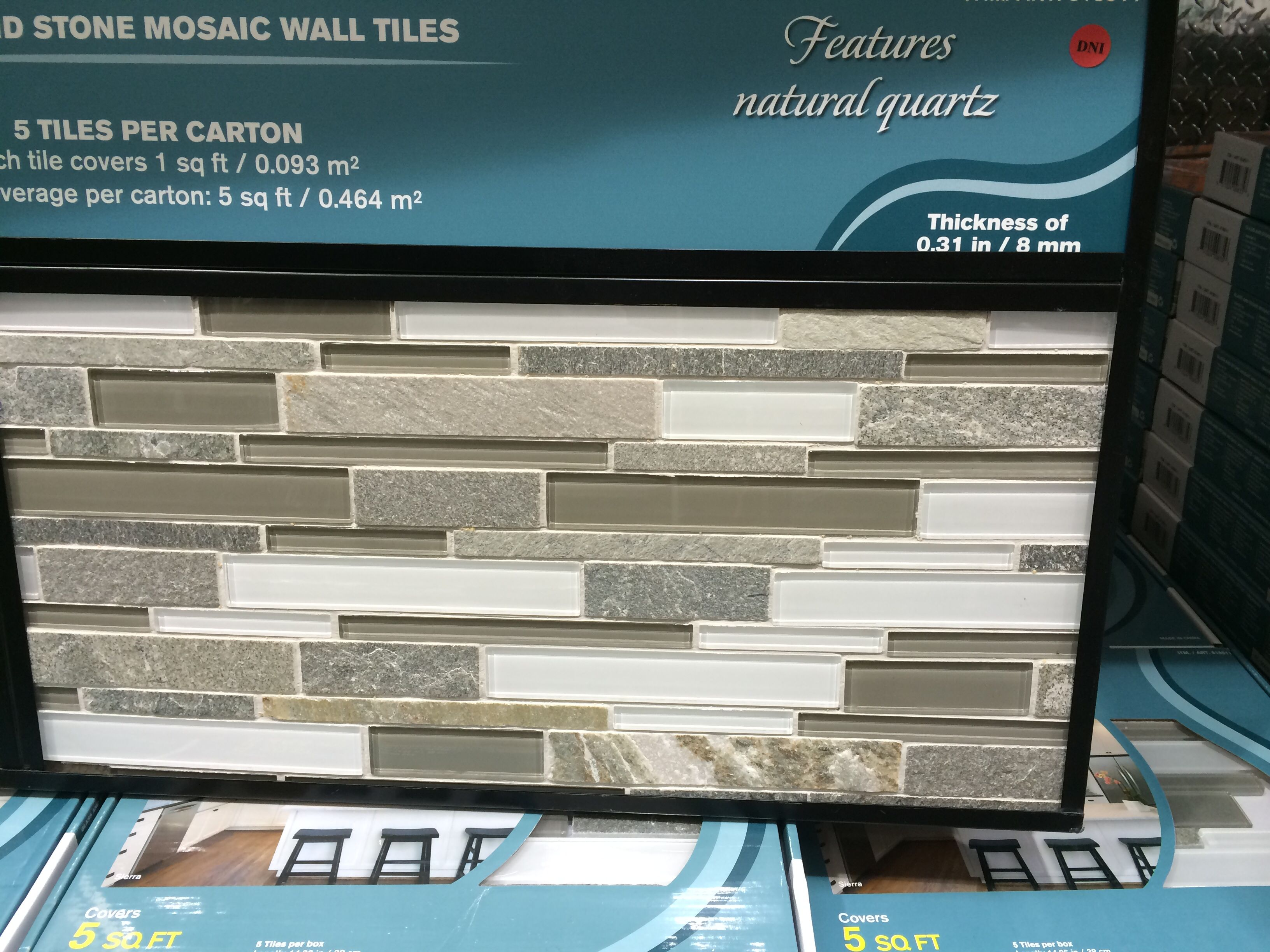 Mosaic Tile Backsplash Costco 5 Square Feet For 23 99 Mosaic Tile Backsplash Stone Mosaic Wall Mosaic Wall Tiles