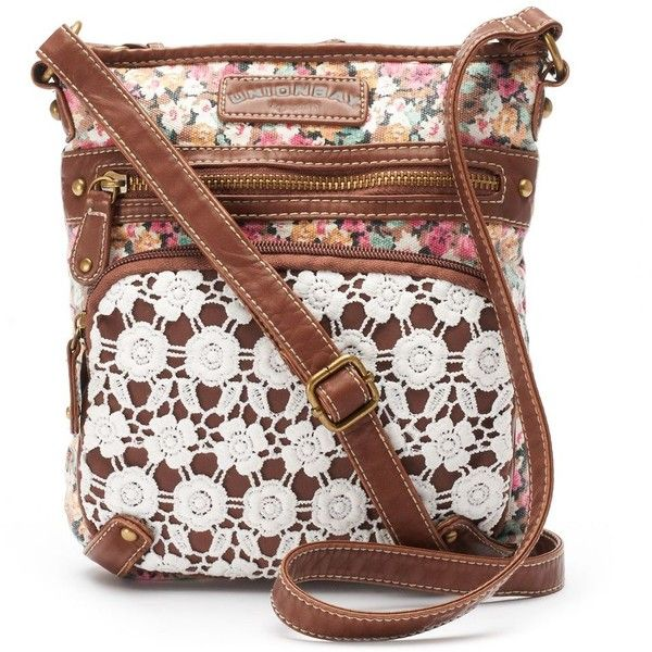 Unionbay Lace Floral Crossbody Bag Womenu0026#39;s Red ($23) Liked On Polyvore Featuring Bags ...