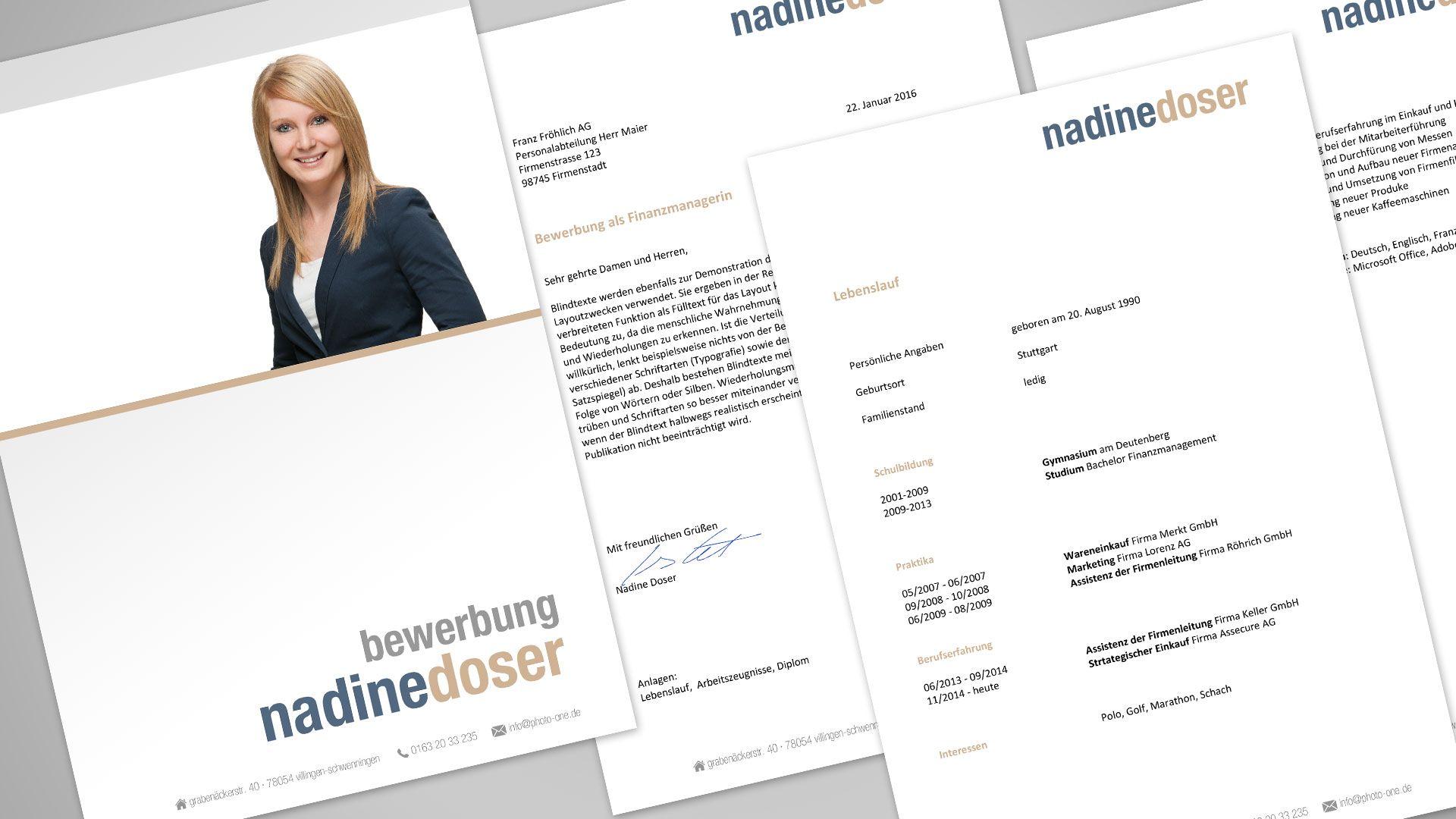 Bewerbungsfoto + Deckblatt und die ganze Microsoft Word Bewerbungsvorlage.  Alls zusammen erhältlich bei www.photo-one.de