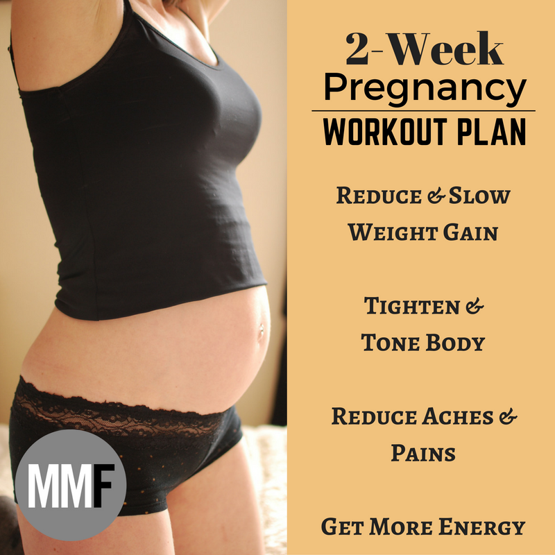 """14 Day Pregnancy Workout Plan 2 Weeks of Workouts No Gym Required """"You Can  Still Tone Up During Pregnancy"""" Take the Challenge!"""