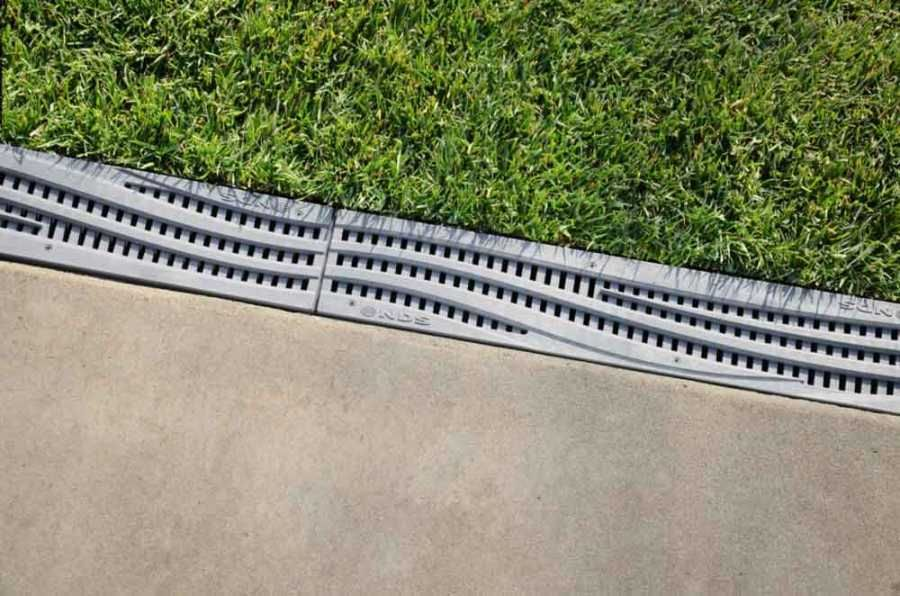 Nds Spee D Channel Decorative Wave Grate Gray Each Drainage Channel Drainage Solutions Trench Drain