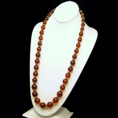 Napier Vintage Long Statement Necklace Large Chunky Amber Lucite Beads, $79.95 from http://stores.ebay.com/My-Classic-Jewelry-Shop. If you like chunky beads necklaces, this Amber Lucite beads necklace from Napier is just fab! :)