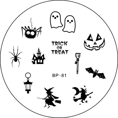 Born Pretty Nail Art Stamp Template Image Plate Halloween