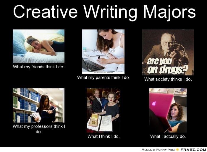 Frabz Creative Writing Majors What My Friends Think I Do What My Paren 999348 Jpg 700 516 Creative Writing Major Creative Writing Course Creative Writing