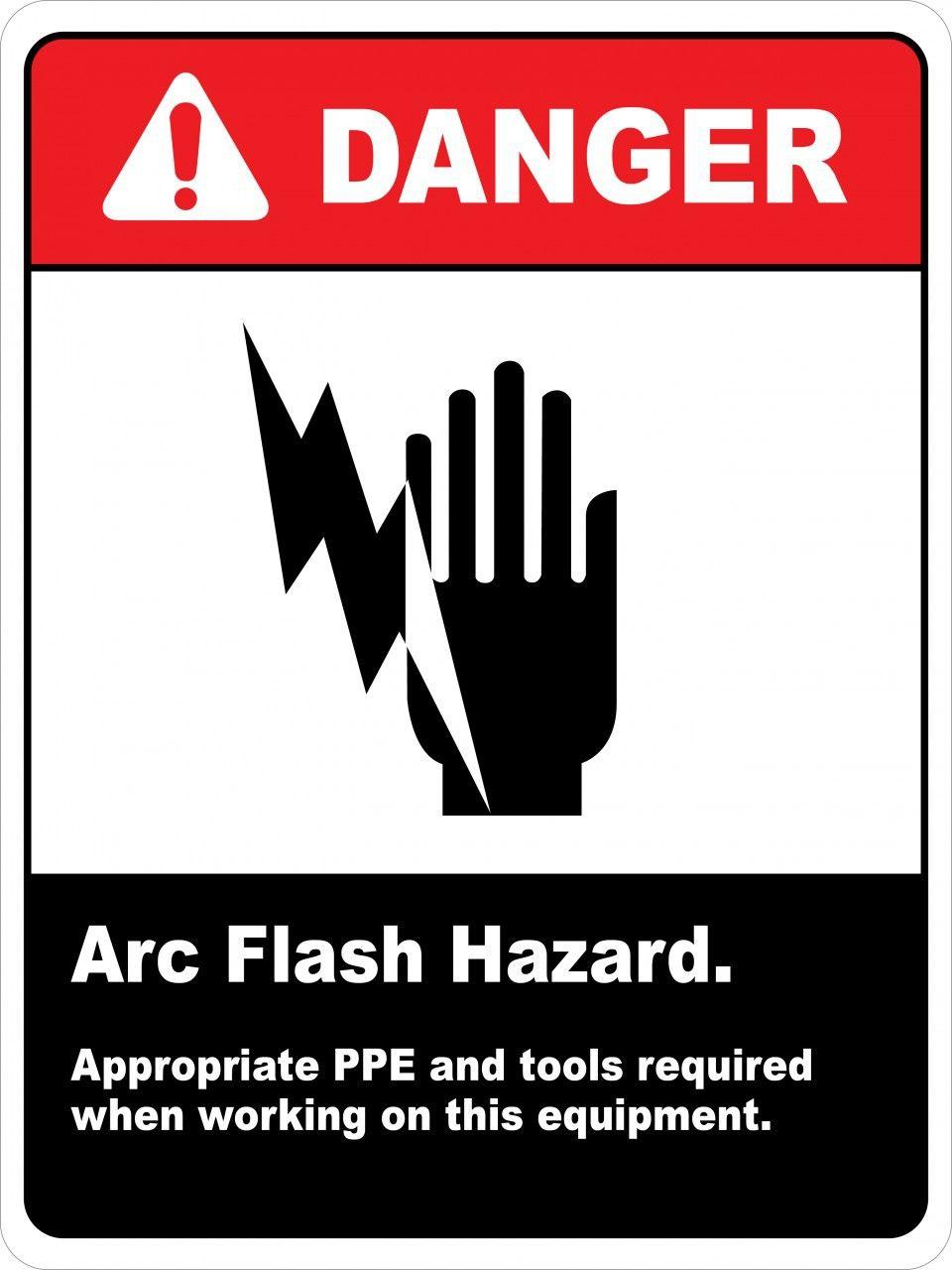 Arc flash hazard wall arc flash wall signs arc