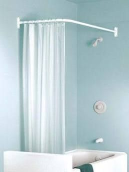 Zenith 33941 L Shaped Shower Rod White My First Home Shower