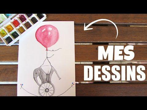 Mes Dessins De L Ete Youtube Zazabelle Dessin Aquarelle