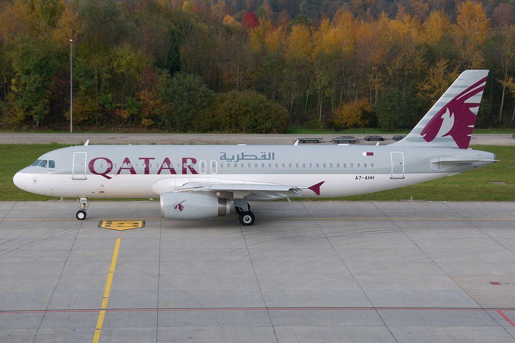 Qatar Airways Airbus A320 200 A7 Ahh Zurich International Airport Qatar Airways Fleet Air Serbia
