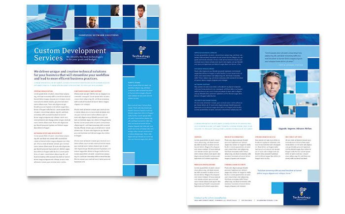 Eco Technology Consulting Datasheet Template - The soft color - technology brochure template