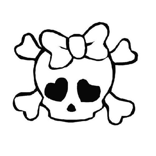 Cafedecals On Artfire Com Skull Coloring Pages Simple Skull Drawing Skull Drawing