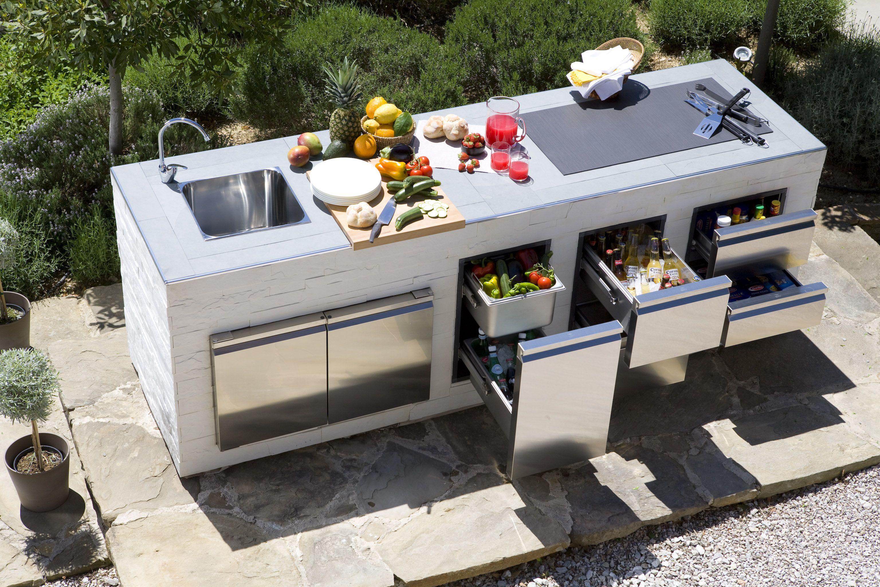 Progetti Per Esterni : Outdoor kitchen ronda pergolati cucine da esterno lavello