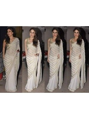 Kareena White Saree Designed by Amrita Thakur at Mehboob Studios Check our New Bollywood collection, http://20offers.com/kareena_white_saree__designed_by_amrita_thakur_at_mehboob_studios?search=kareena#.UzvQcKiSzxA , Available for shipping worldwide,  Buy Bollywood Sarees at lowest price in USA, CANADA, AUSTRALIA, NEW ZEALAND, SINGAPORE, MALYASIA ,UK, NETHERLANDS, FRANCE, JERMANY - Indian Clothing Online!