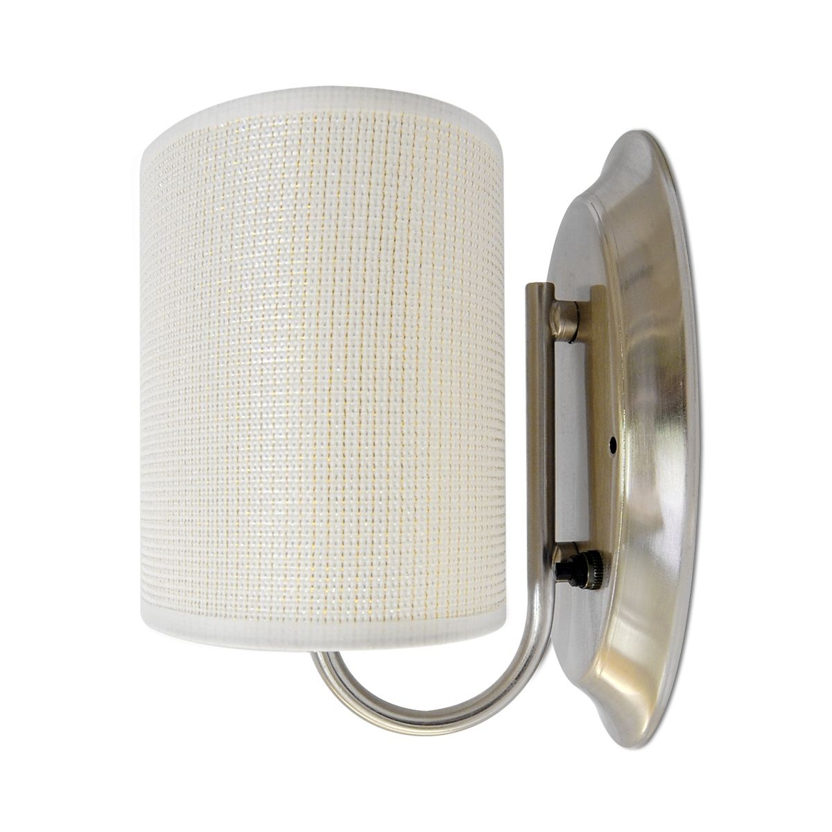 Led 12volt White Fabric Wall Sconce Elliptical Shade Rv Trailer