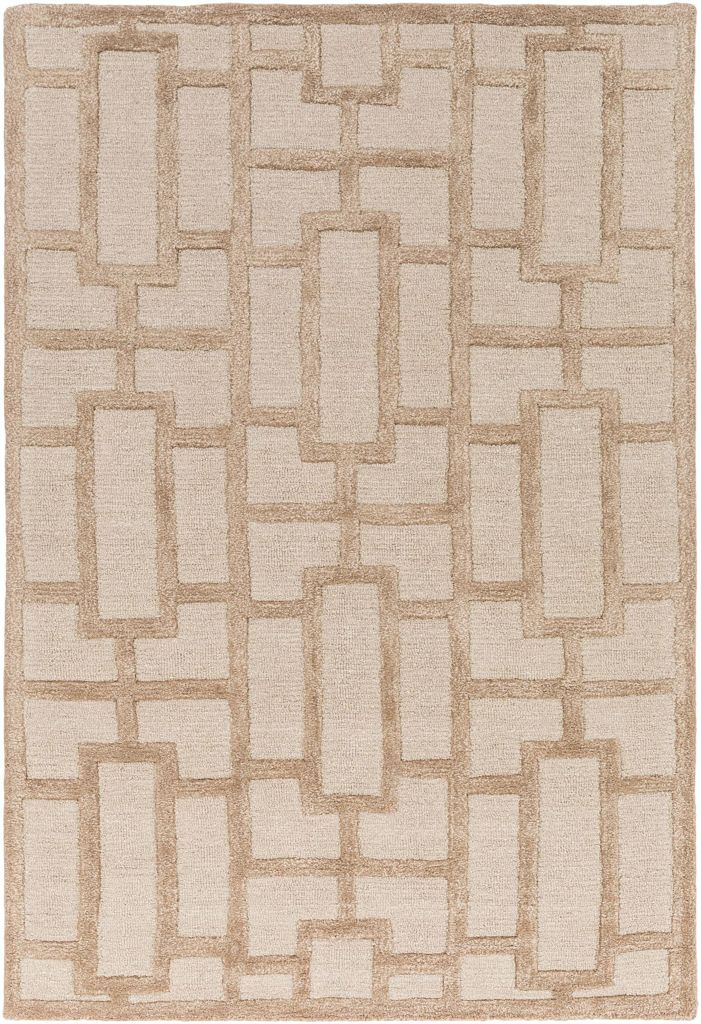 Arise Addison Hand Tufted Tan Area Rug
