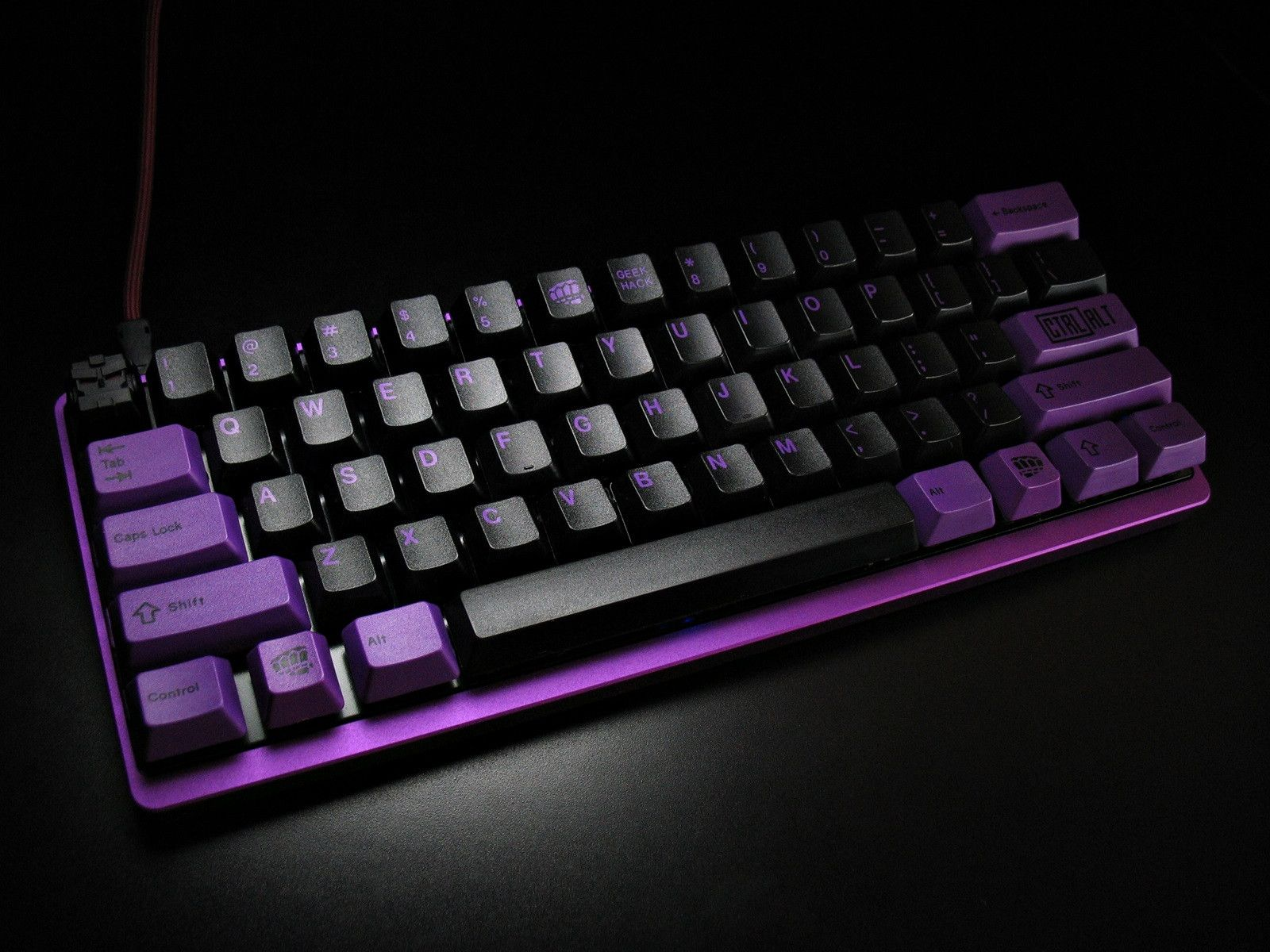 Bro Set Purple Tex Case Naasfu Mechanical Keyboards
