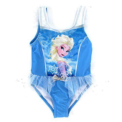 Disney Girls Frozen Sisters One Piece Swimsuit