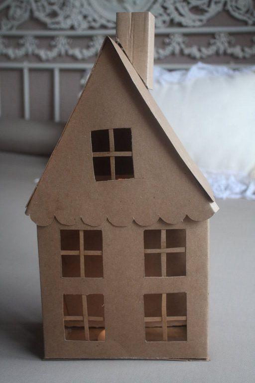 Compartimos Ideas Te Animas Casas De Carton Cajas De Navidad Casitas