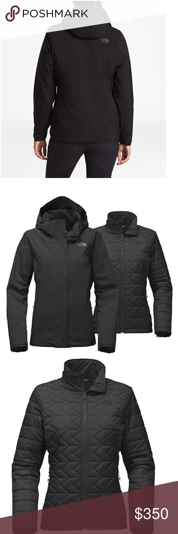 The North Face Women S Carto Triclimate Jacket M Sz Medium Color Black Polyester Polyurethane 3 In 1 Jac North Face Women Ski Pants Women Triclimate Jacket [ 1740 x 580 Pixel ]