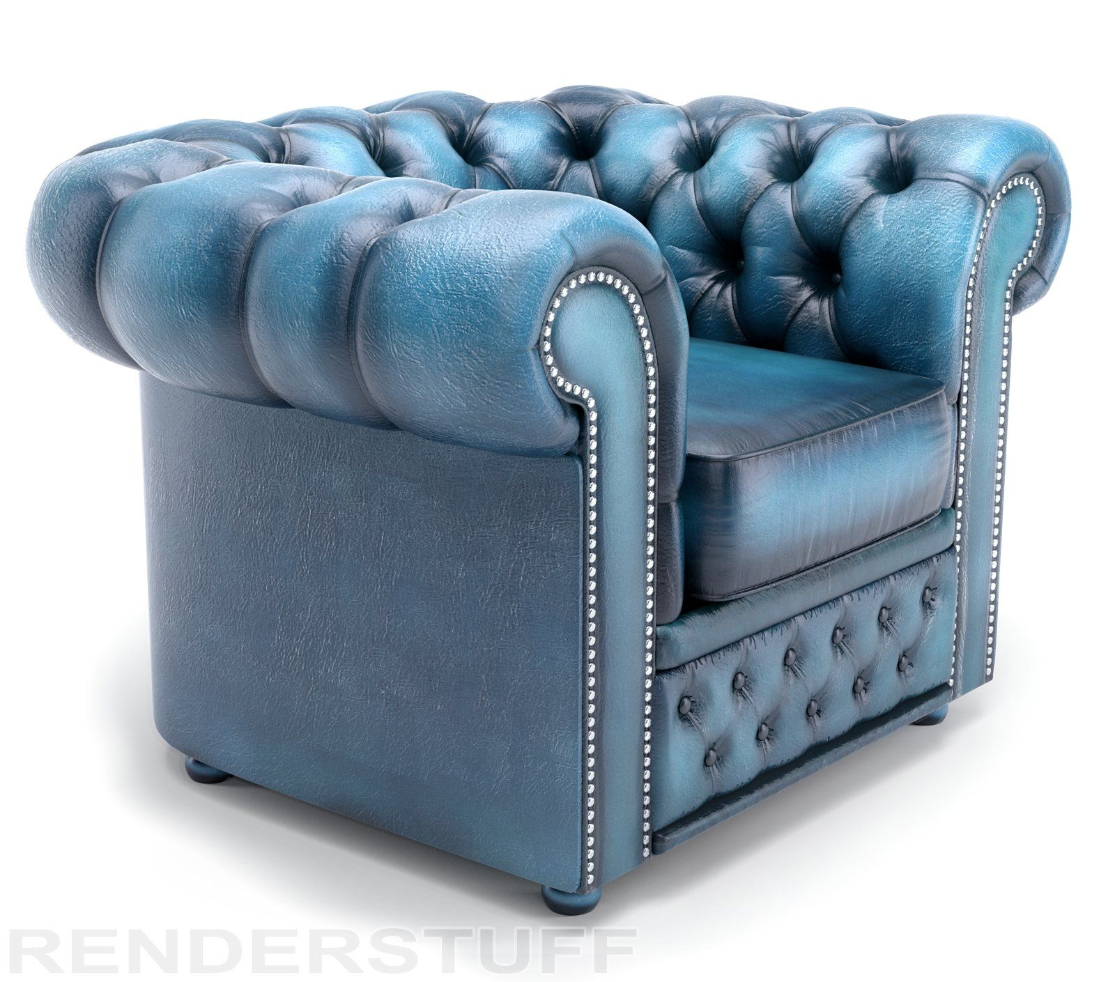 Vintage blue chesterfield sofa | Gorgeous Home Decor | Pinterest