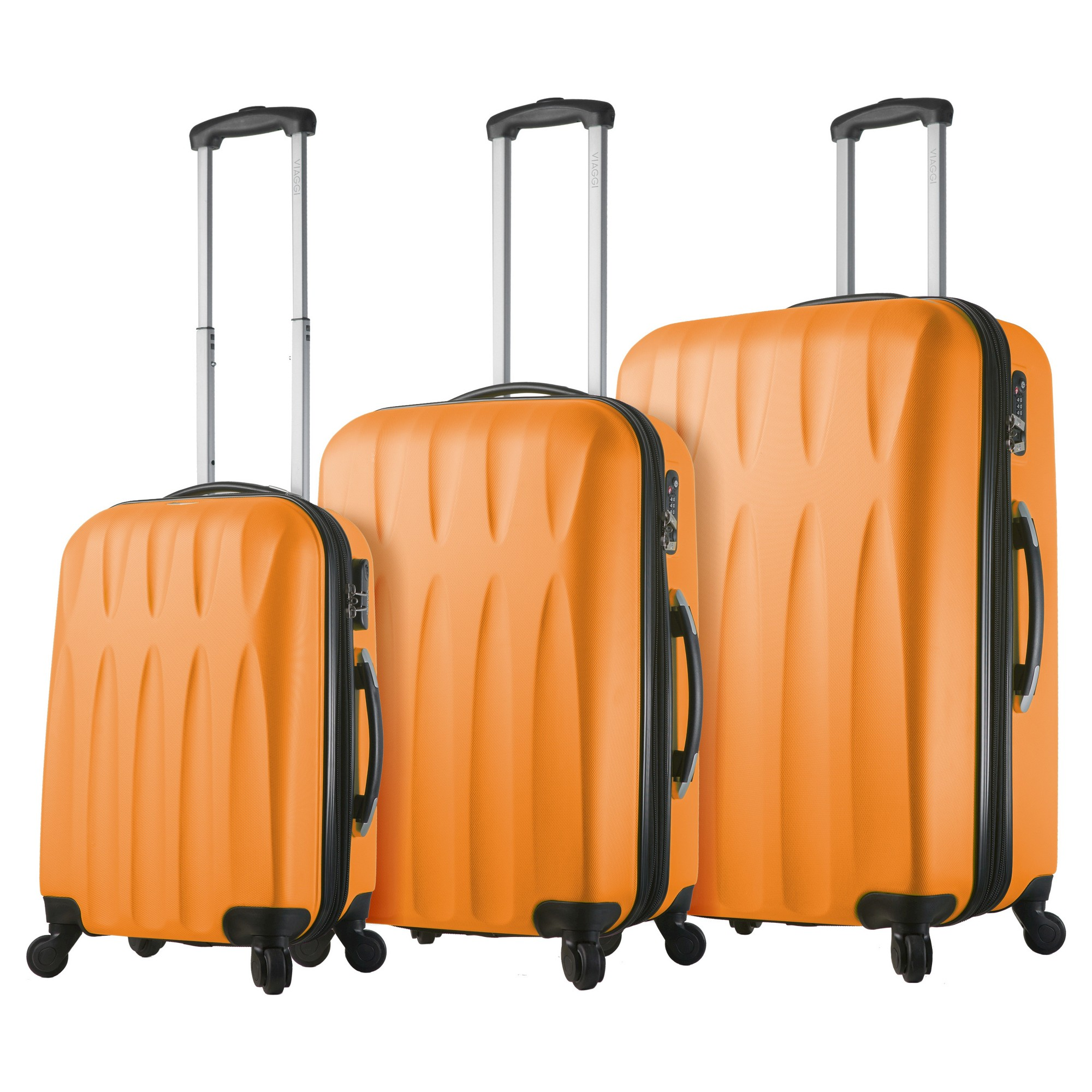 Mia Viaggi Pavia Hardside 3pc Luggage Set Bubble Gum Bubble Gum