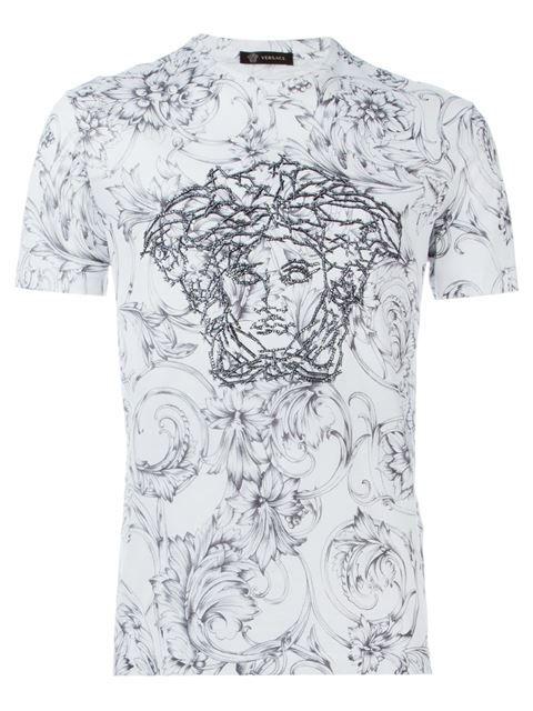Designer T Shirts For Men Mens Woven Shirts Versace Mens Shirt Versace T Shirt
