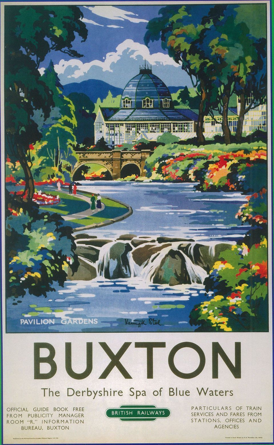 Vintage Transport Railway Rail Travel Advertising Poster Re Print Buxton Travel Posters Railway Posters Retro Travel Poster