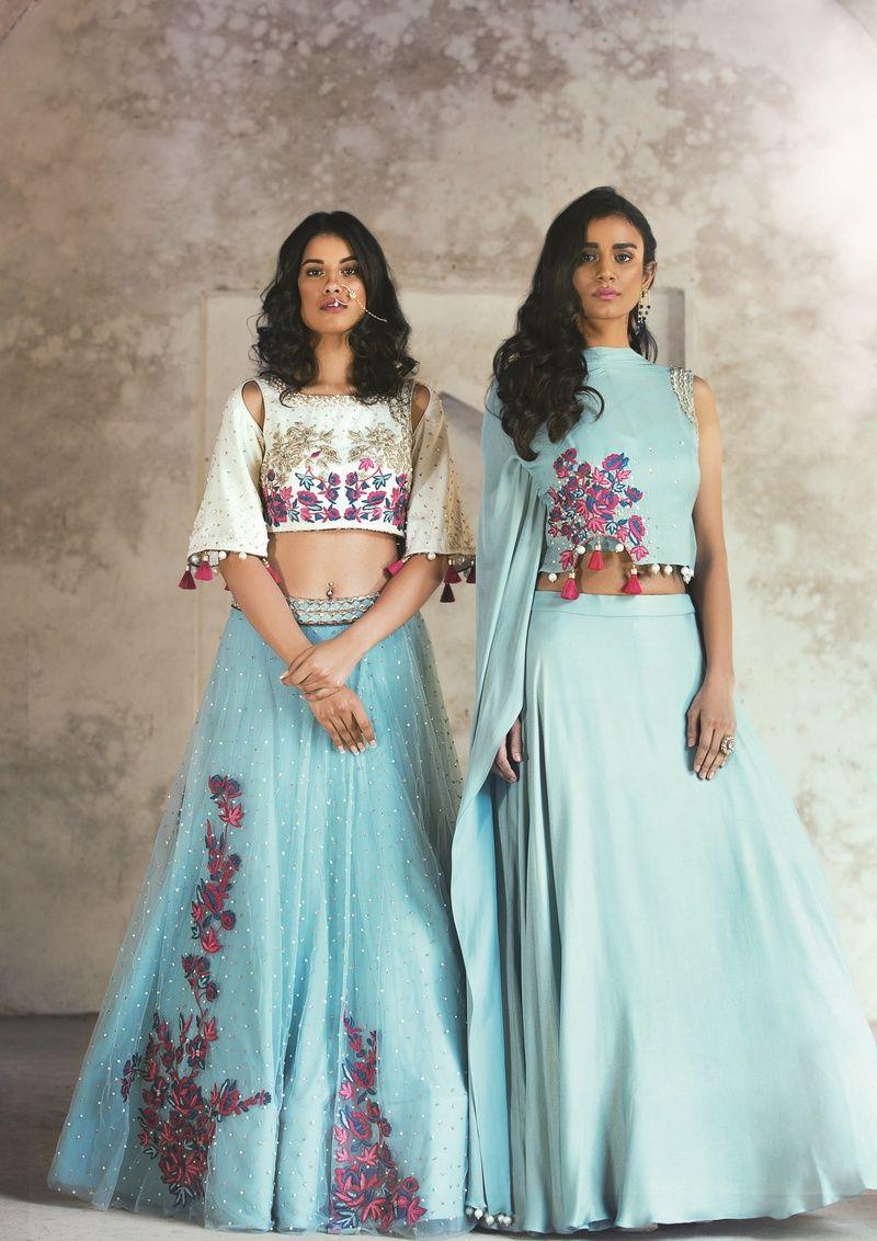 crop top lehenga | Indian designer wear, Designer wear and Indian wear