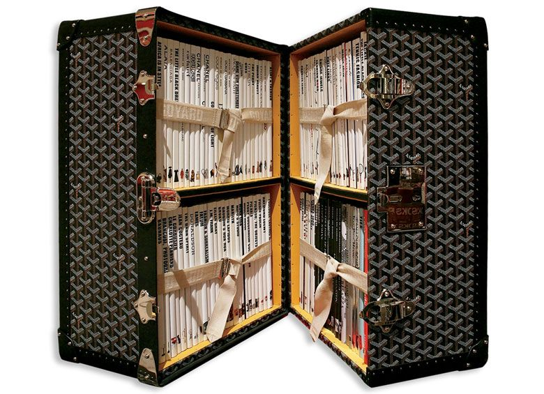 Publisher Assouline offered of a Goyard trunk filled with 100 of their most popular books, almost immediately selling out at a princely $20,000 per.
