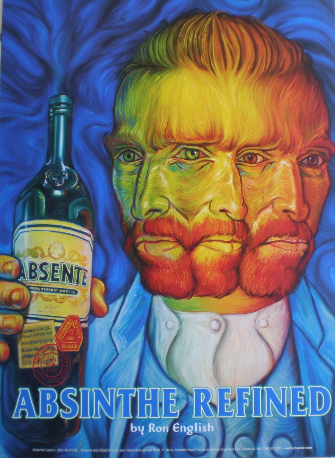 Details Absente Absinthe Poster Ron English Van Gogh Print Art