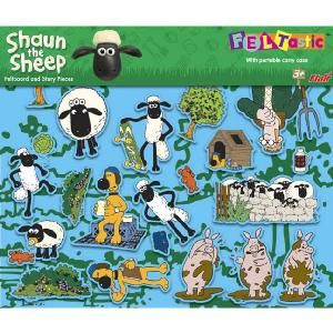 Flair Shaun The Sheep Feltastic Make Your Own Crazy Farmyard Scenes With Characters From