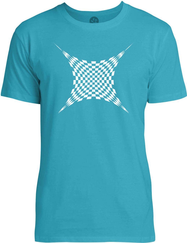 Op Art Grid (White) Mens Fine Jersey T-Shirt