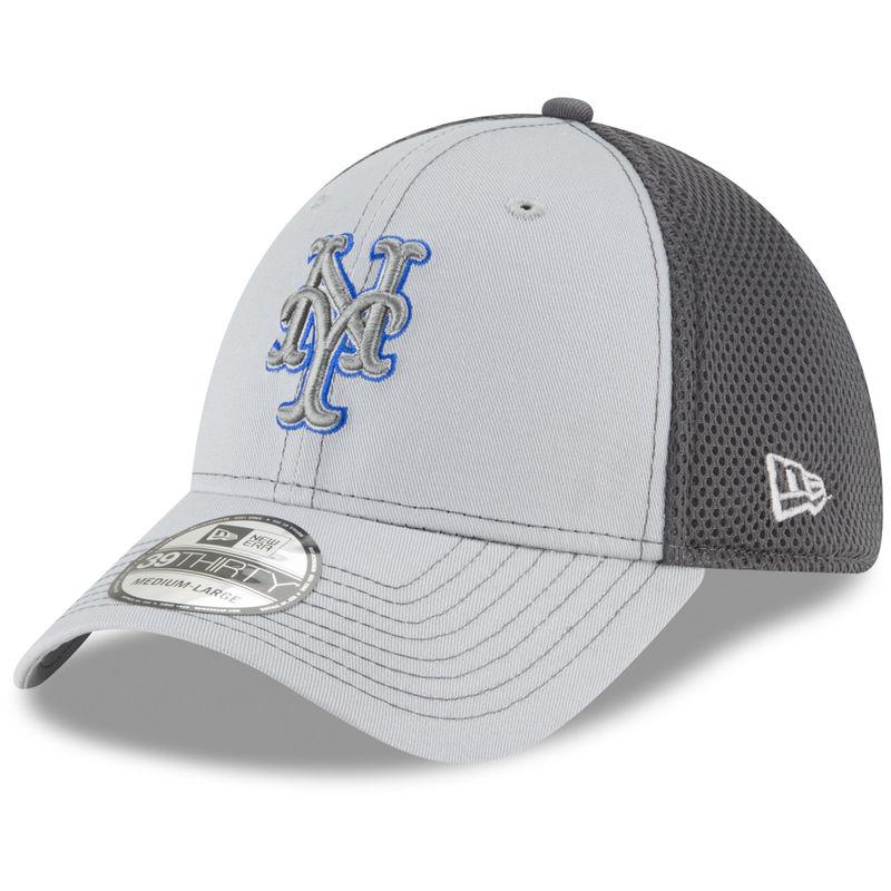 promo code 8e0ab 1b981 New York Mets New Era Grayed Out Neo 39THIRTY Flex Hat - Gray