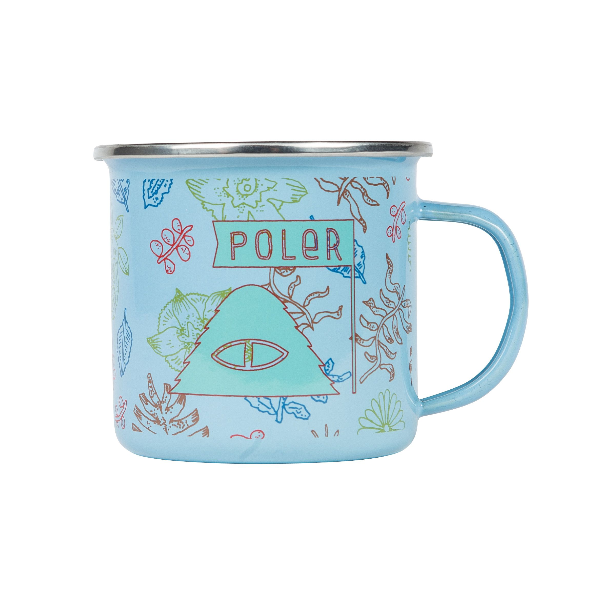 Polerstuff Camp Mug In Botanical True Blue