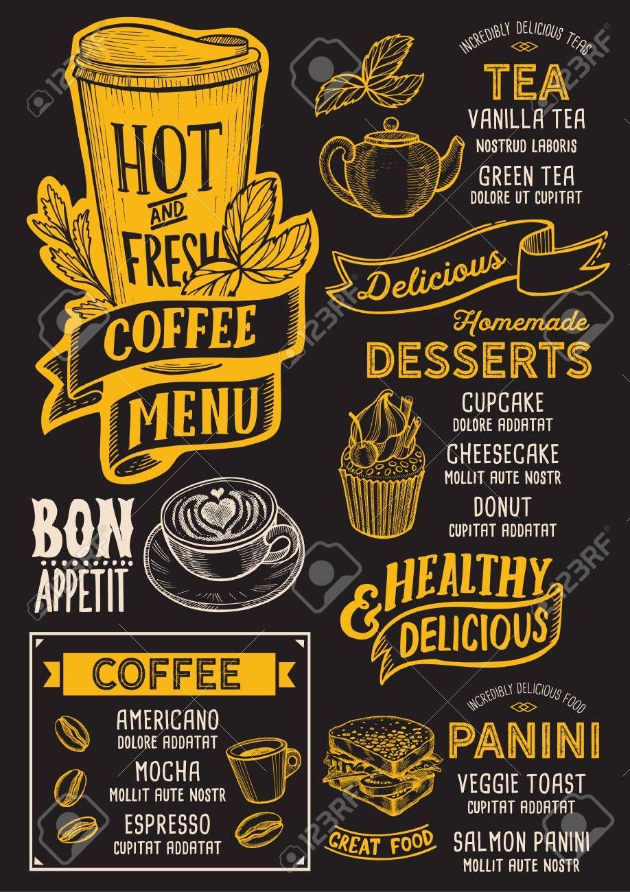 Coffee Menu Template For Restaurant On A Blackboard Background Spon Template M Diseno Del Menu De Cafeteria Menu De Cafe Diseno Del Menu Del Restaurante