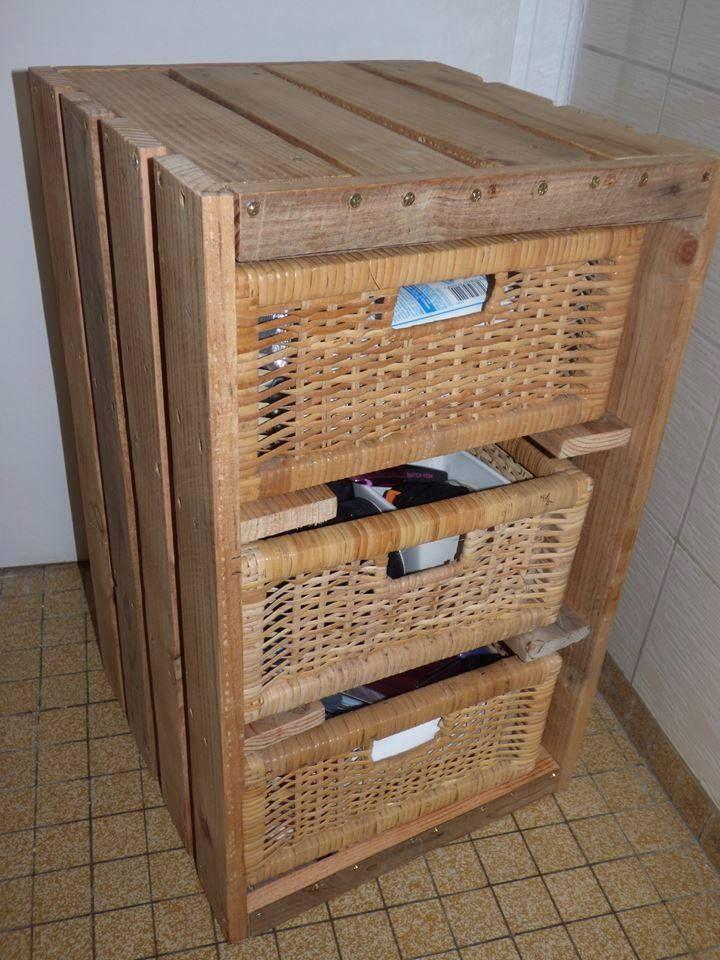 Handmade Pallet Basket #Dresser - 150+ Wonderful Pallet Furniture Ideas | 101 Pallet Ideas - Part 5